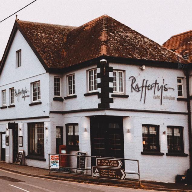 Rafferty's Cafe Winebar St Merryn Cornwall